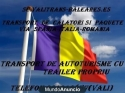 Transport Pachete si persoane Hispania-Italia-Romania si retur